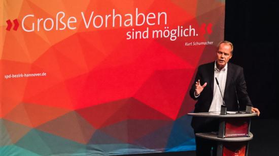 Matthias Miersch bei seiner Parteitagsrede in Hildesheim