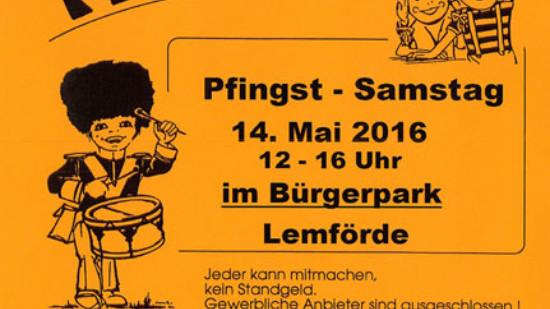 Flohmarkt Einladungsplakat